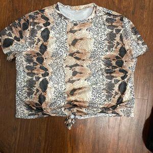Shein snakeskin t-shirt